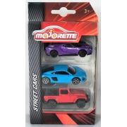 Pack com 3 Ford GT Audi R8 Jeep Wrangler 1/64 Majorette