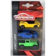 Pack com 3 Miniaturas Alfa Romeo 4C Lamborghini Aventador  Jeep Wrangler 1/64 Majorette