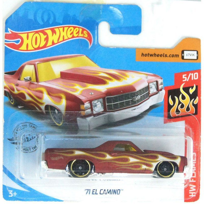 1971 El Camino HW Flames 164 Hot Wheels