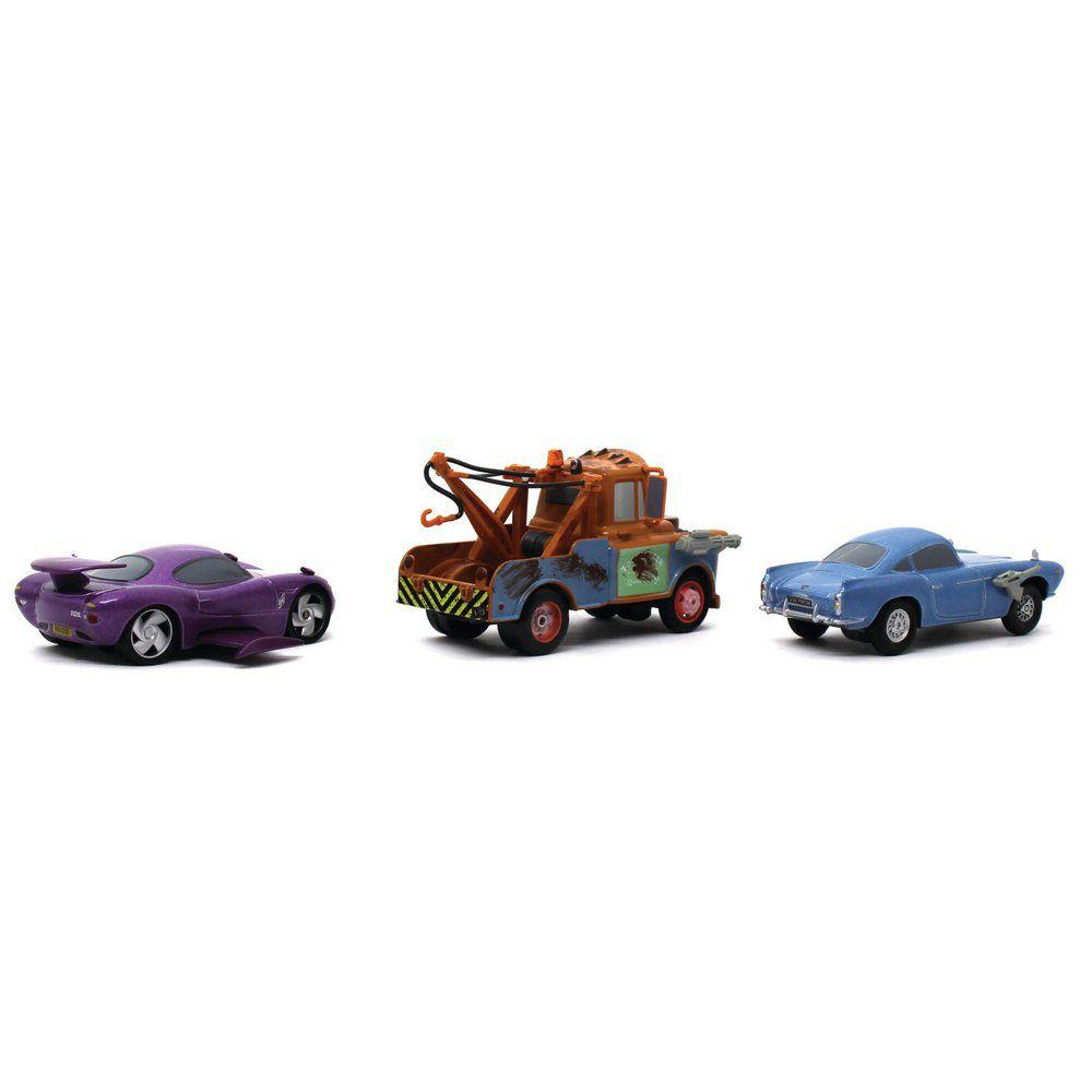 Miniatura Agentes Secretos Holley Caixadibrita Finn McMíssil Mater Disney Pixar Carros 1/43 Com Fricção