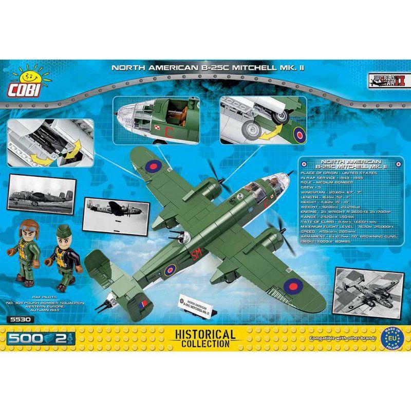 Avião B-25C Mitchell Blocos de Montar 500 Peças Cobi