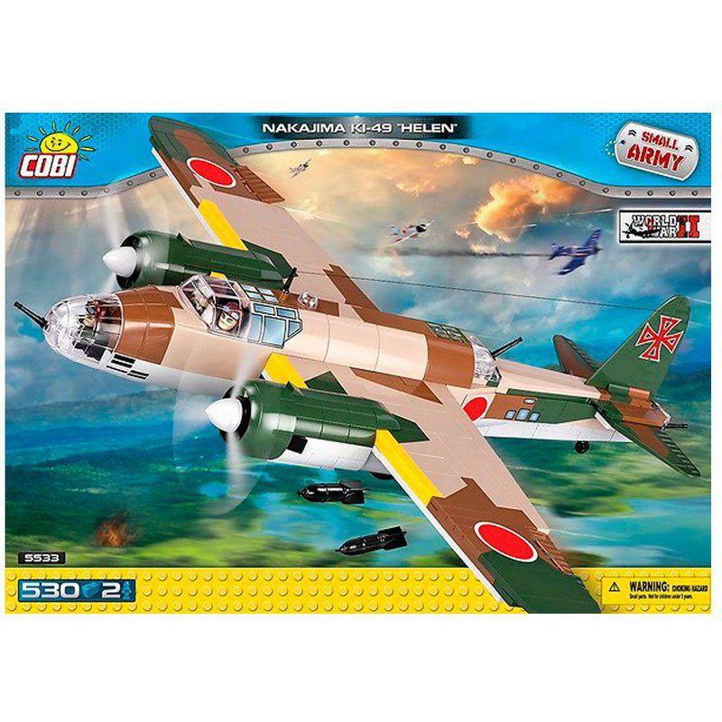 Avião Bombardeiro Japonês Nakajima KI-49 blocos de montar com 530 peças Cobi