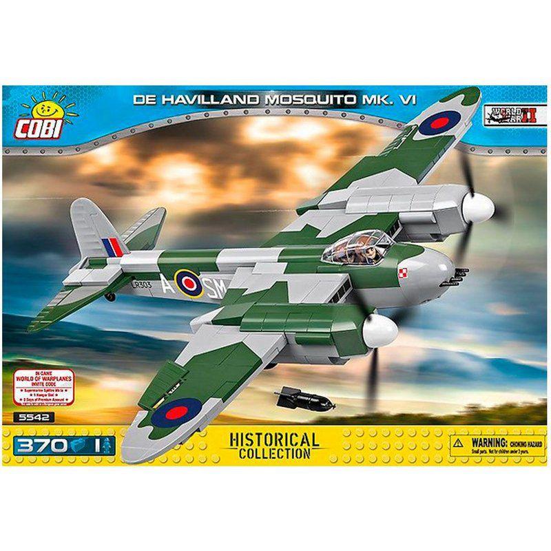 Avião Bombardeiro Reino Unido de Havilland Mosquito blocos de montar com 370 peças Cobi