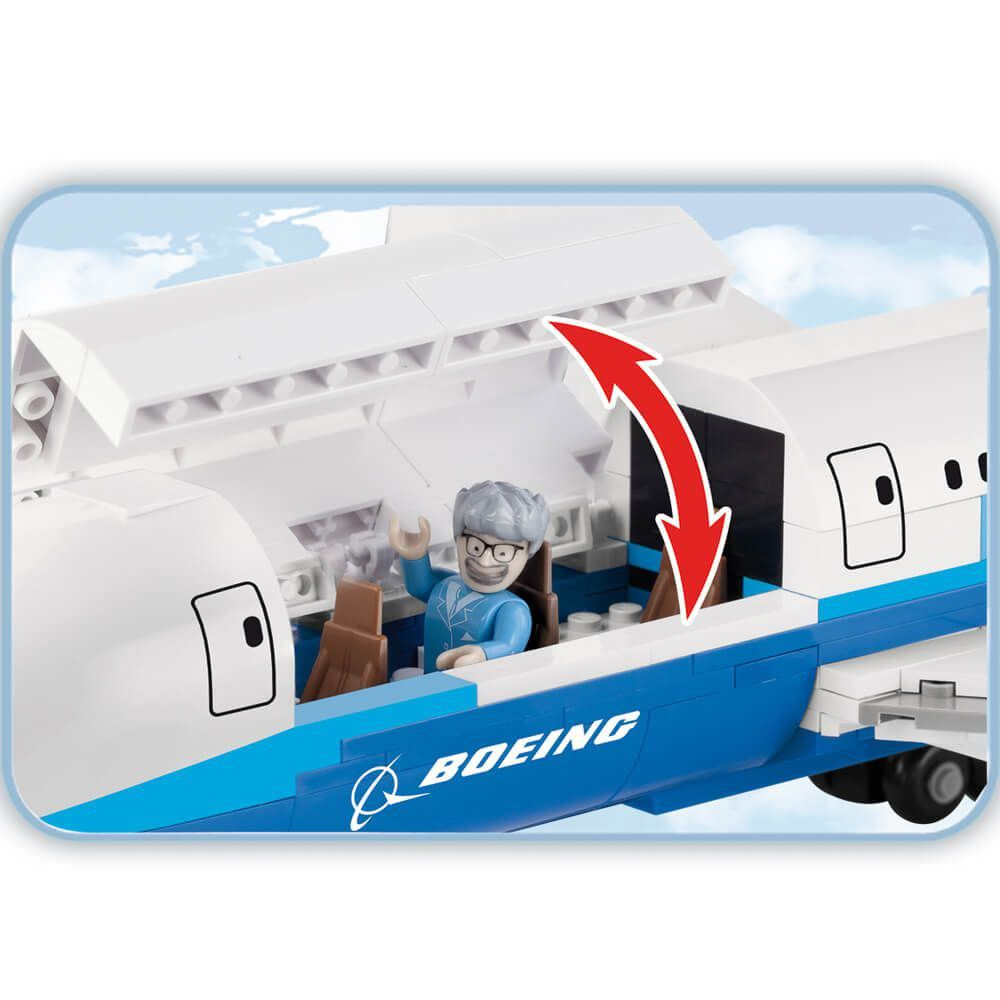 Avião Comercial Boeing 787 Blocos de Montar 600 peças Cobi