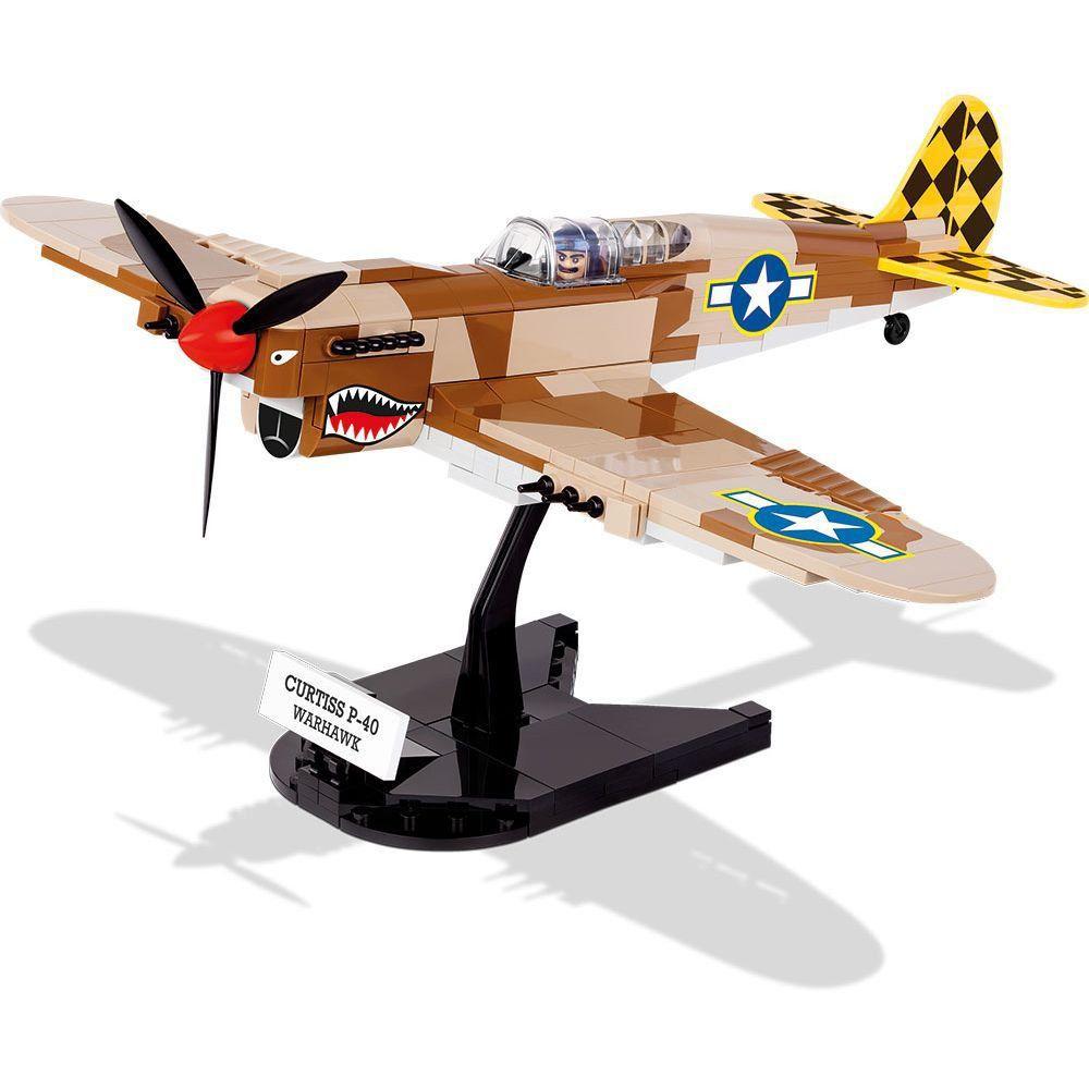 Avião Curtiss P-40K Warhawk Blocos de Montar 265 Peças Cobi