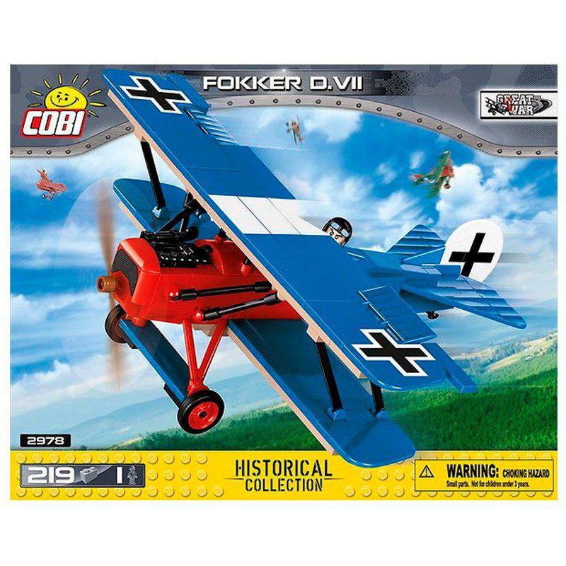 Avião de Combate Alemão Fokker D.VII blocos de montar com 219 peças Cobi