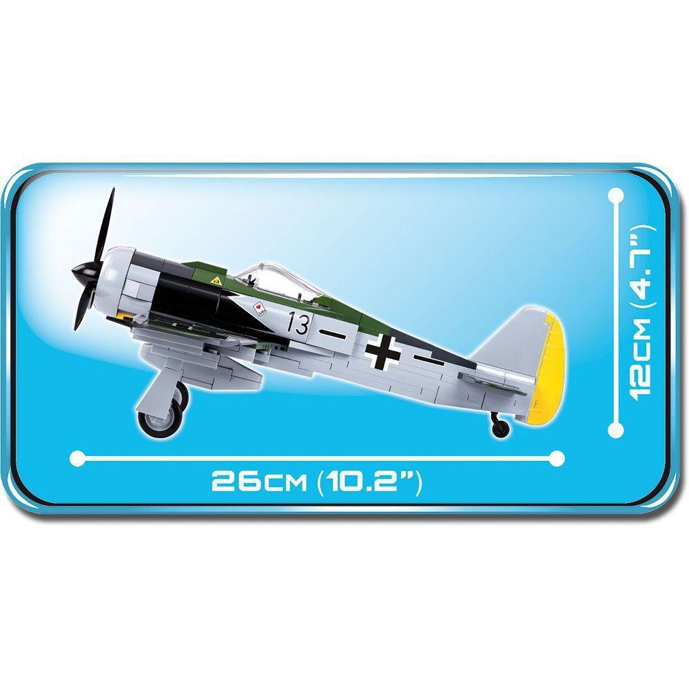 Avião Focke Wulf FW 190 A-8 Blocos de Montar 285 Peças Cobi