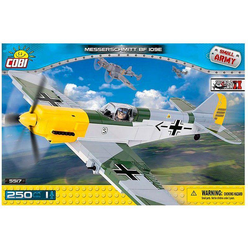 Avião Militar Messerschmitt BF 109E blocos de montar com 250 peças Cobi