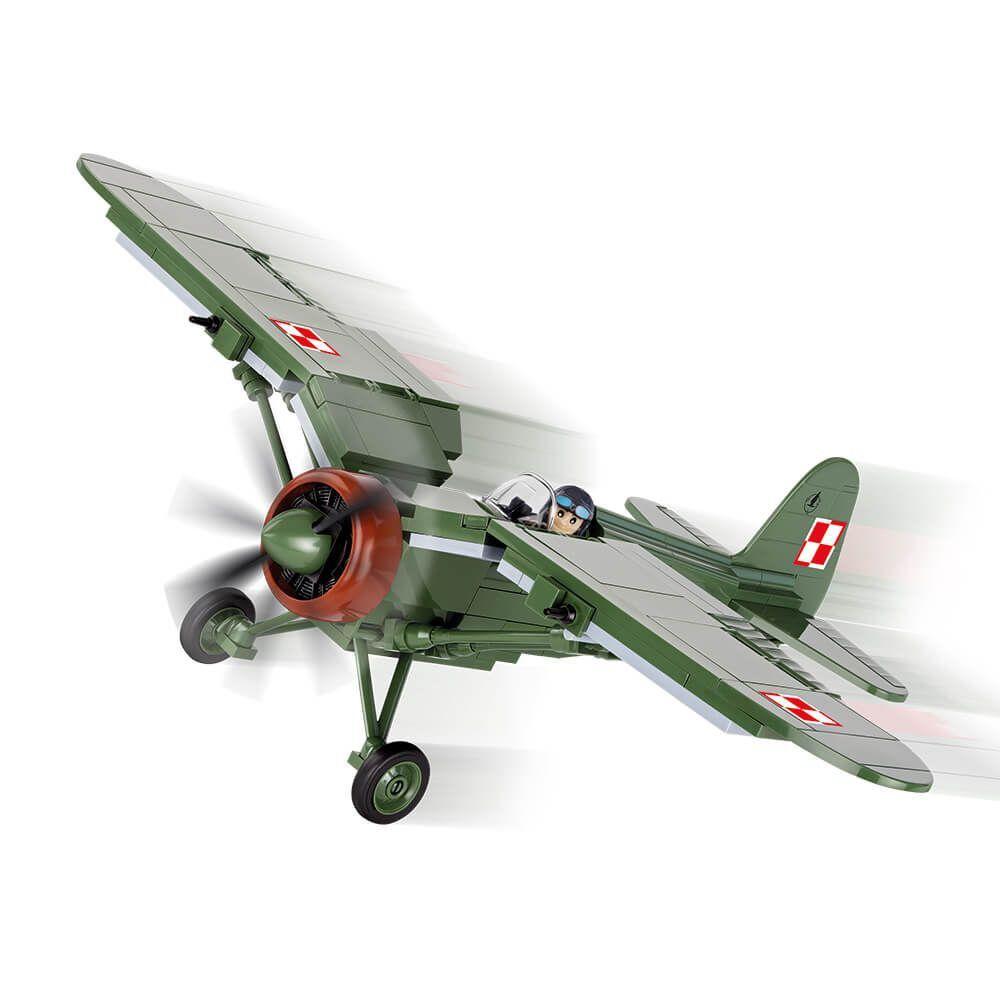 Avião Militar Pzl P11C Blocos de Montar 245 Peças Cobi