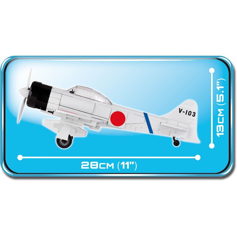 Avião Mitsubishi A6M2 Zero Blocos de Montar 250 Peças Cobi