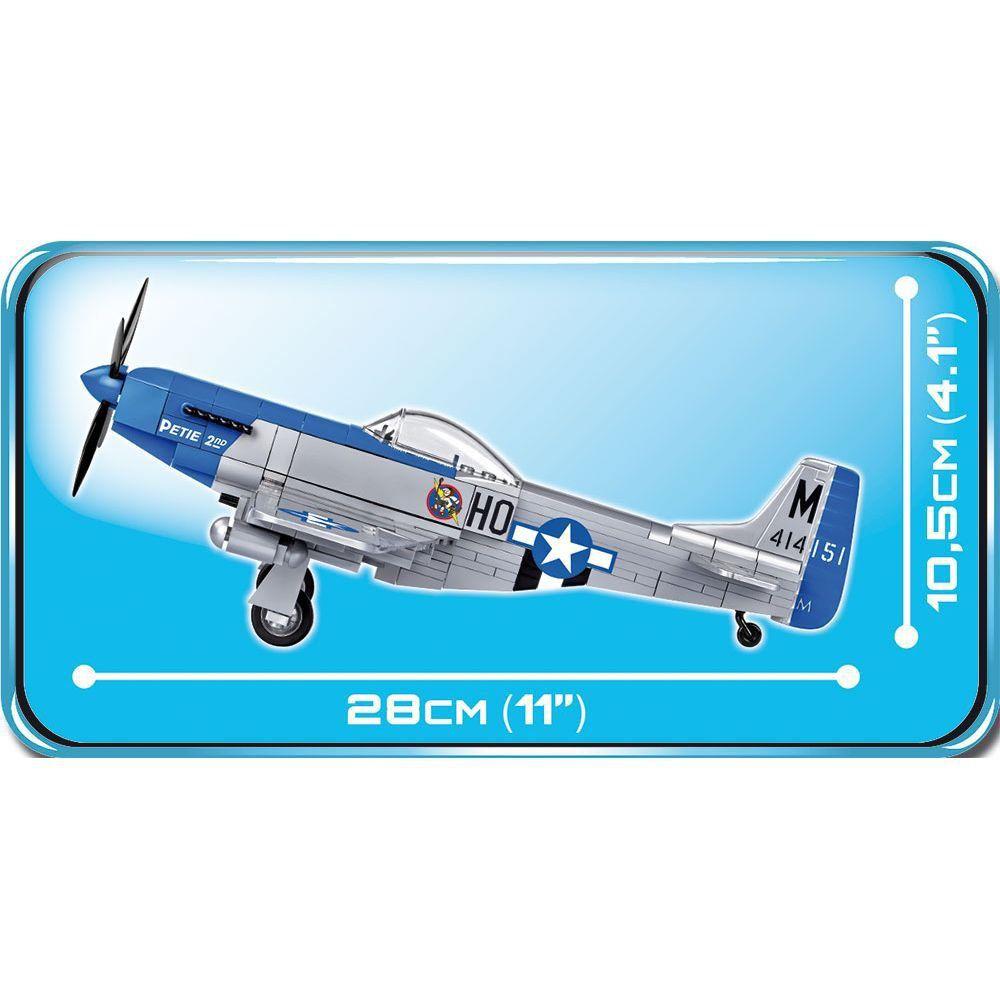 Avião Norte Americano P-51D Blocos de Montar 265 Peças Cobi