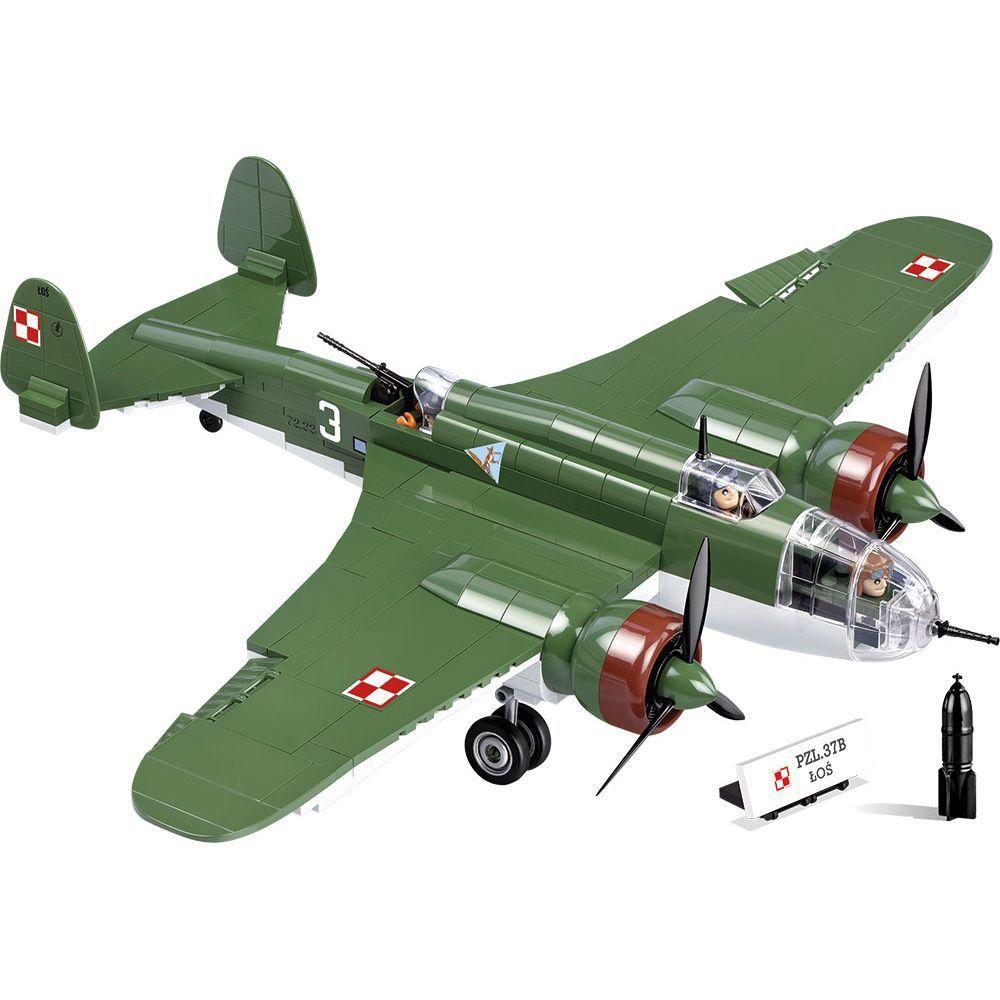 Avião Militar PZL P-37B Blocos de Montar 415 Peças Cobi