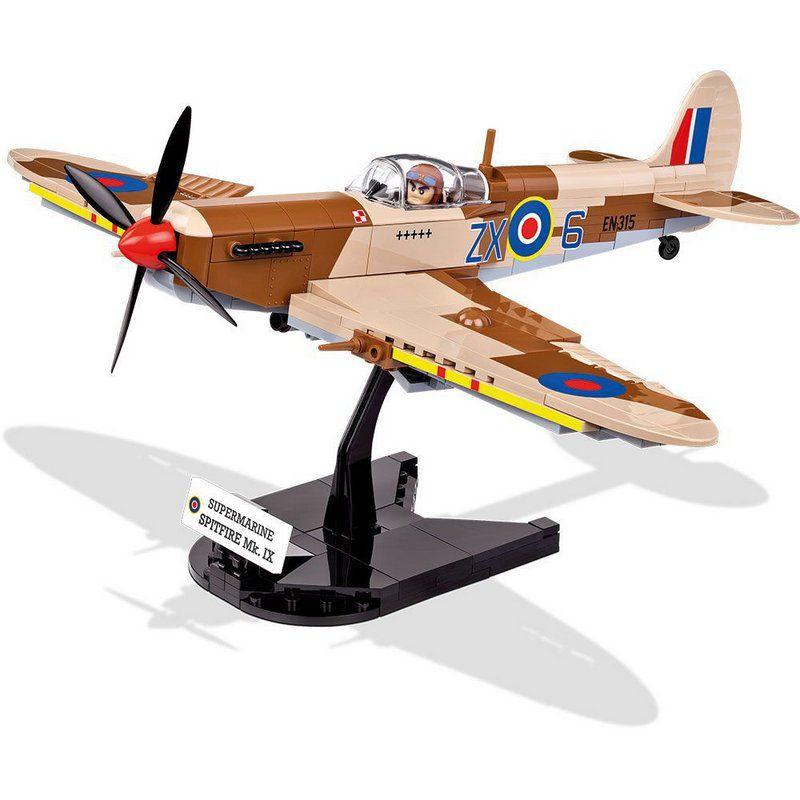 Avião Supermarine Spitfire MK. IX Blocos de Montar 280 Peças Cobi
