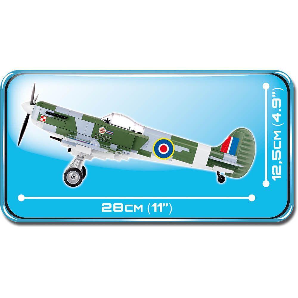 Avião Supermarine Spitfire Mk VB Blocos de Montar 290 Peças Cobi