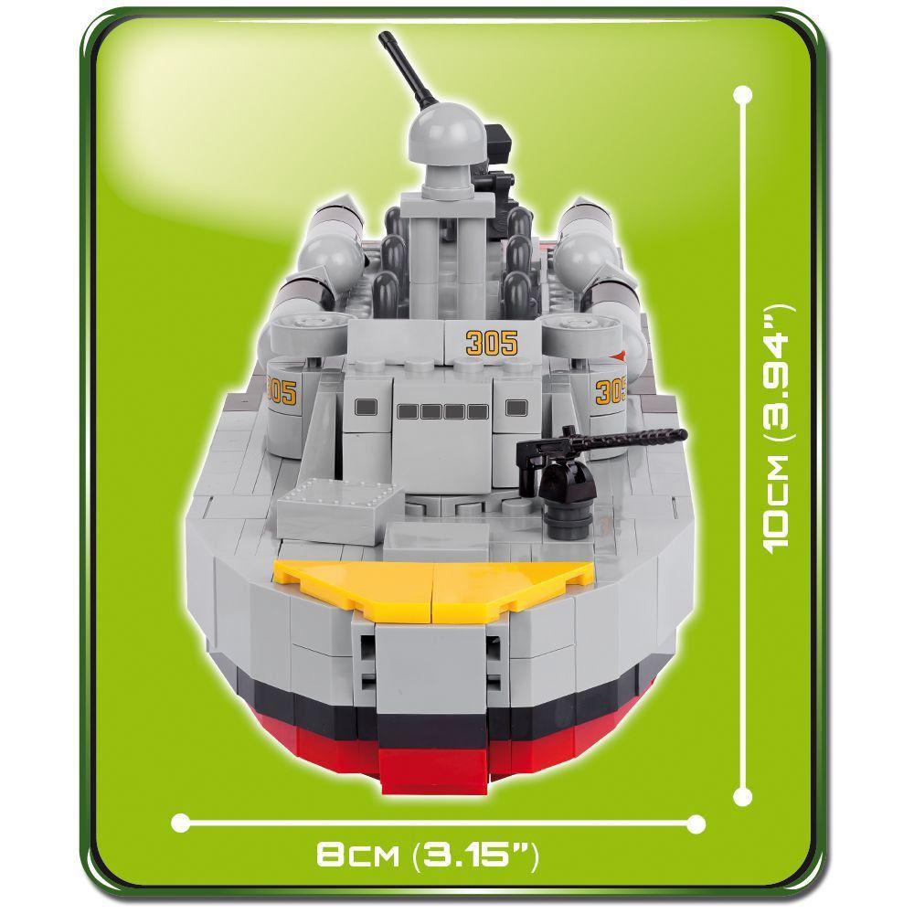 Barco de Patrulha Militar Blocos de Montar 480 Peças Cobi