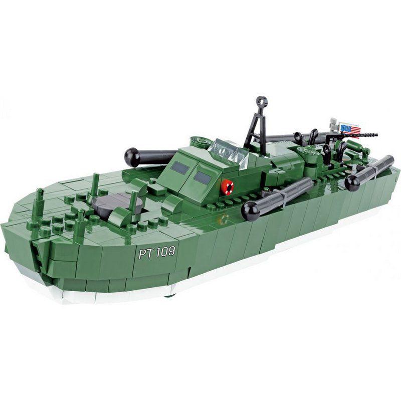 Barco Motor torpedo boat Blocos de Montar 480 Peças Cobi