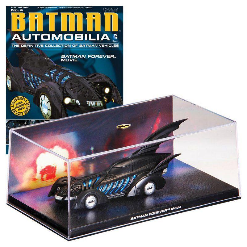 Miniatura Batmovel do filme Batman Forever Automobilia 4 1/43 Eaglemoss