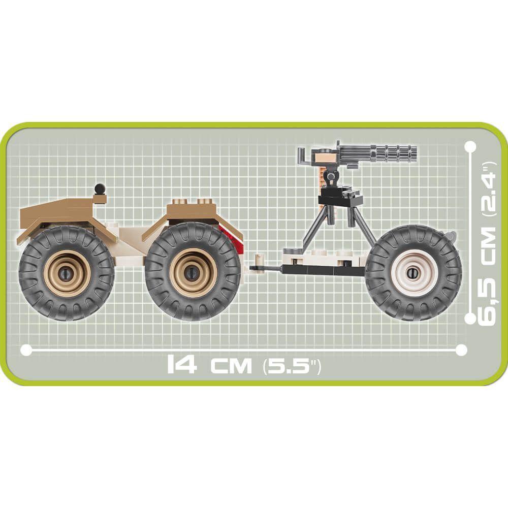 Buggy ATV w/Avanger Blocos de Montar 60 Peças Cobi