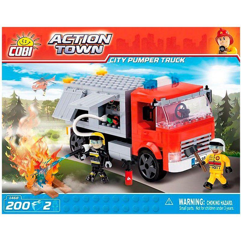 Caminhão de Bombeiros blocos de montar com 200 peças Cobi