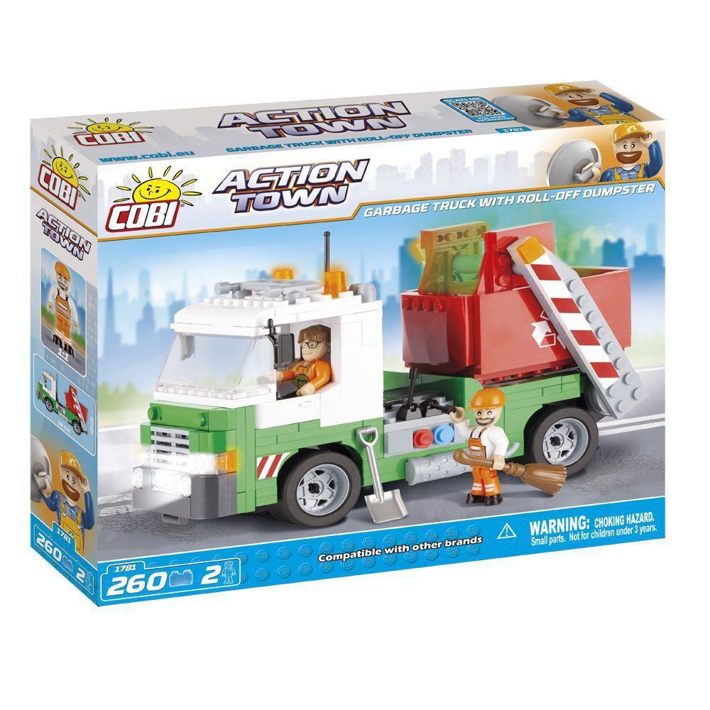 Caminhão de Lixo Caçamba Blocos de Montar 260 Peças Cobi