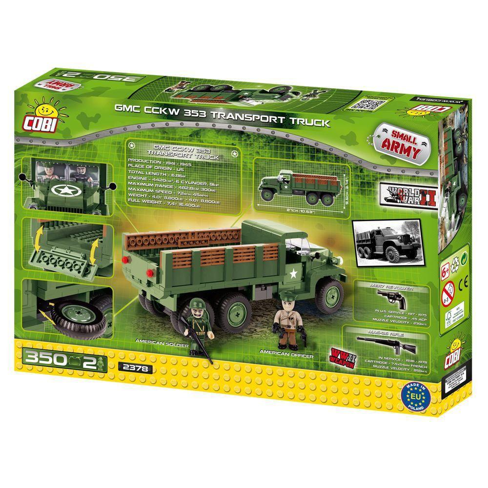 Caminhão GMC CCKW 353 Transport Blocos de Montar 350 Peças Cobi