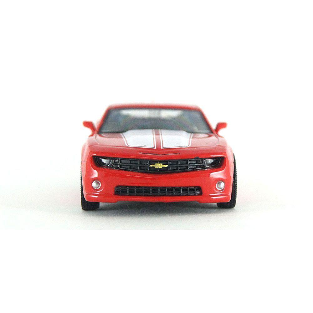 Miniatura Chevrolet Camaro Vermelho e Branco Luz e Som 1/32 Hot Wheels