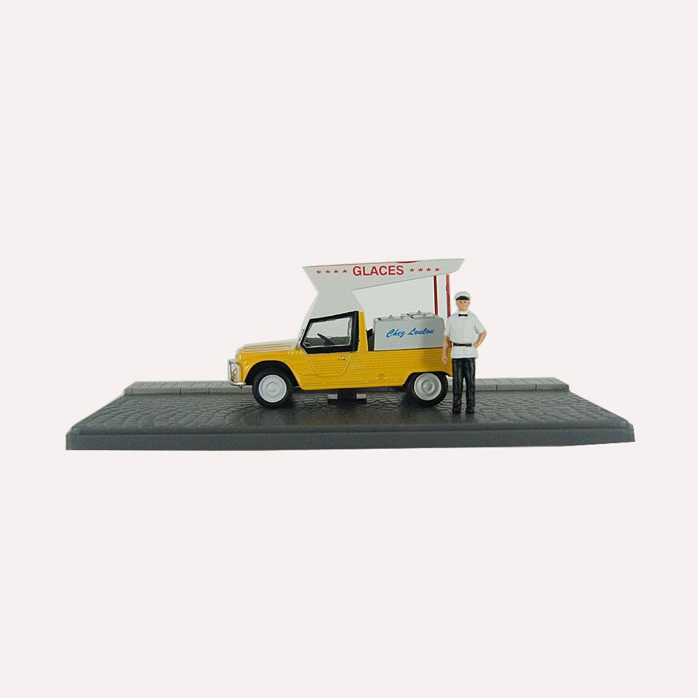 Miniatura Diorama Citroen Méhari Sorveteria 1/43 Atlas