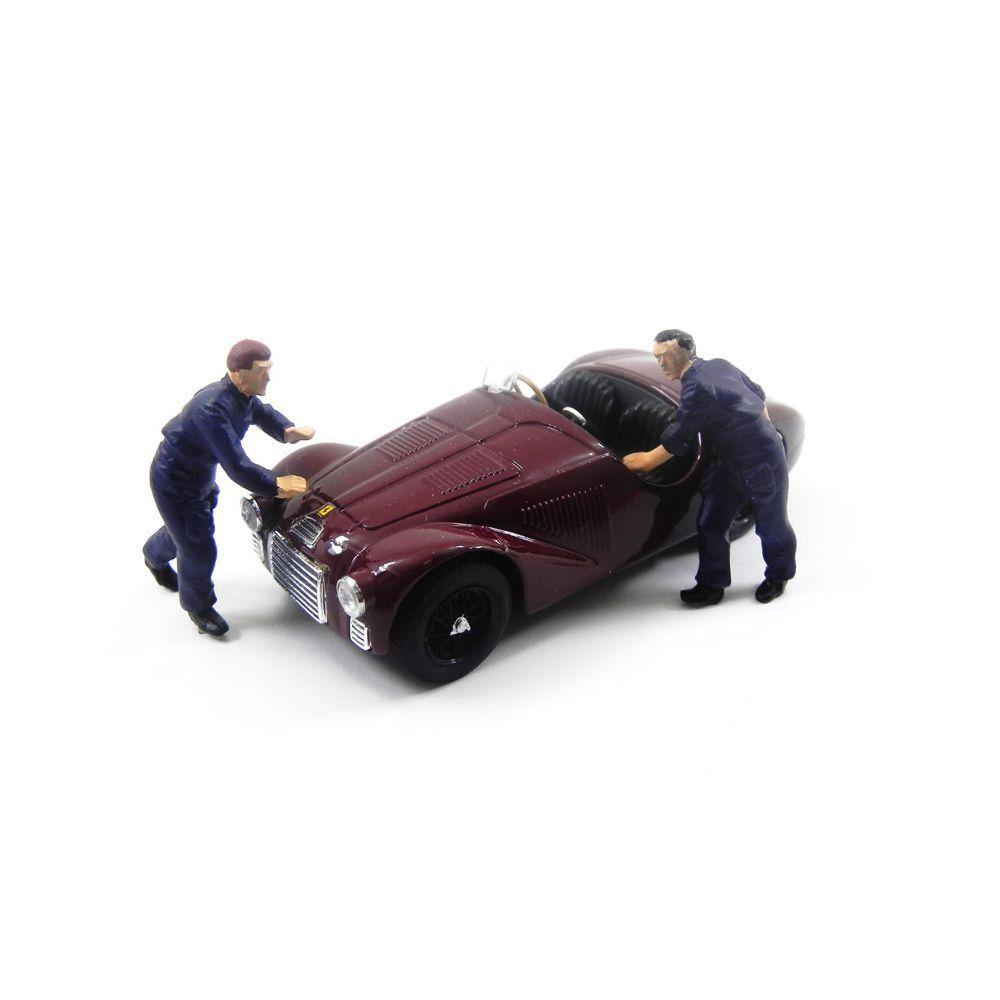 Miniatura Diorama Ferrari 125 S Fabrica Ferrari 1947 1/43 Brumm