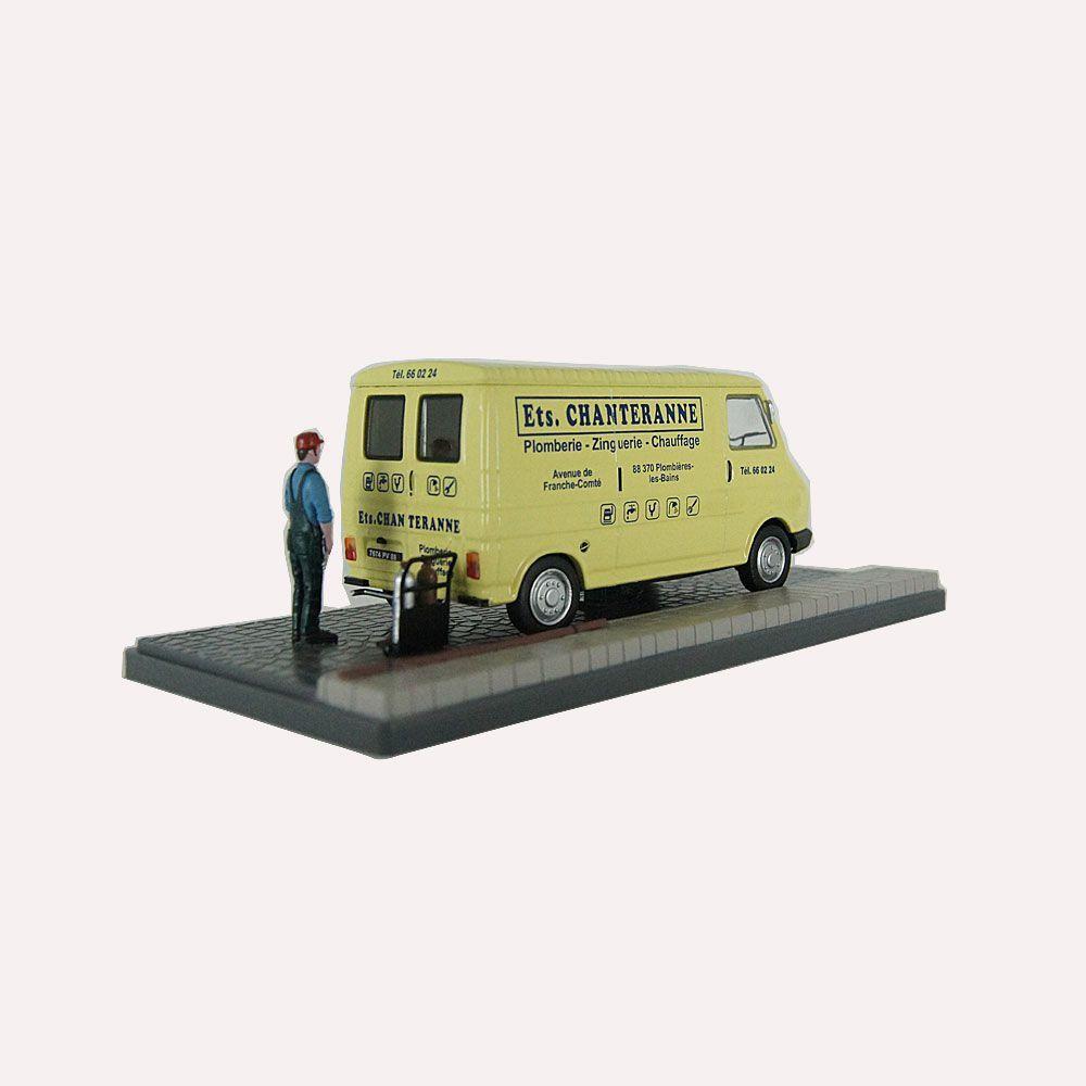 Miniatura Diorama Furgão Citroen C35 Serviços de Encanador 1/43 Atlas