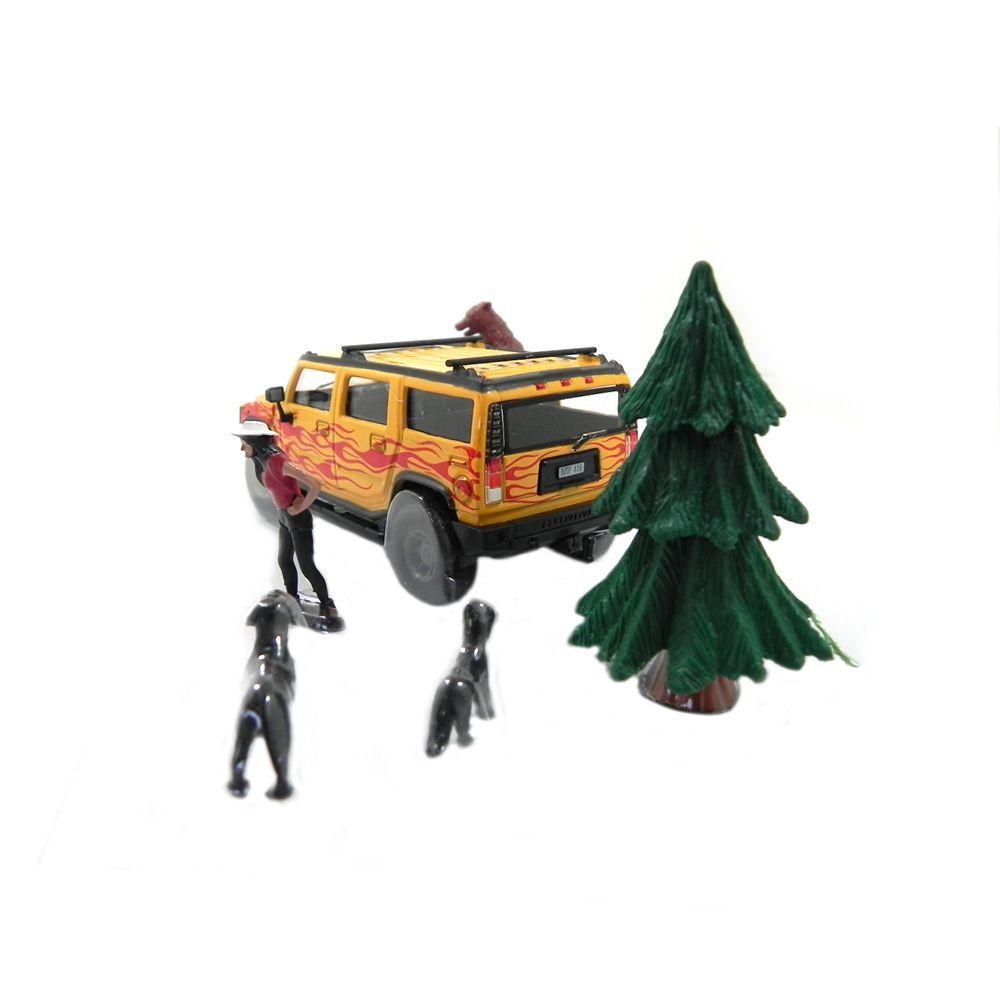 Miniatura Diorama Hummer Adventure Series 1/43 Cararama