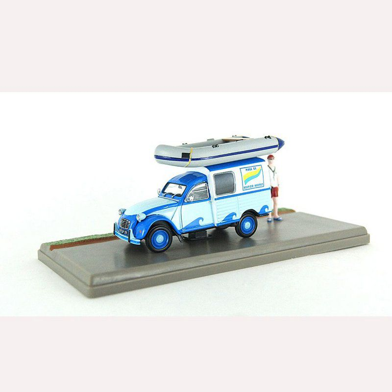 Miniatura Diorama Van Citroen 2CV AKS 400 Centro Náutico 1/43 Atlas