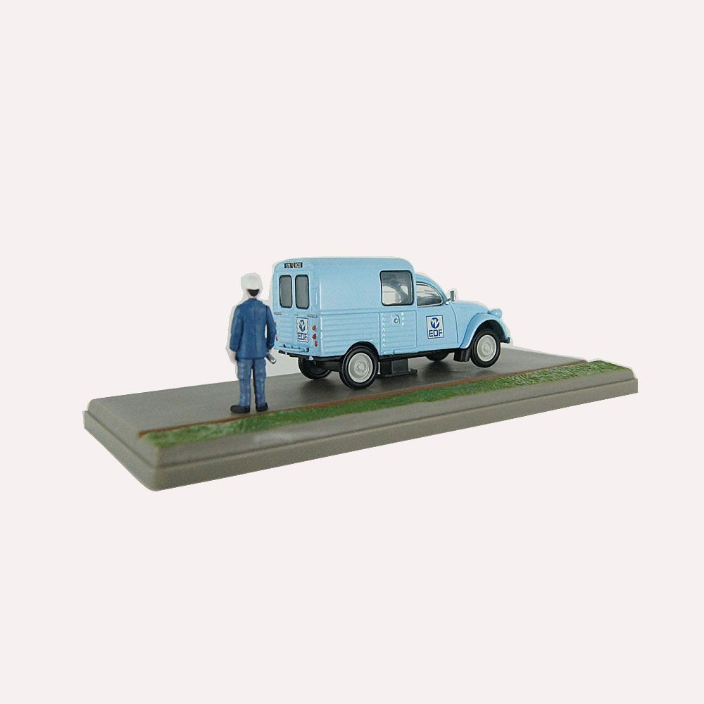 Miniatura Diorama Van Citroen 2CV AKS 400 EDF-GDF 1/43 Atlas