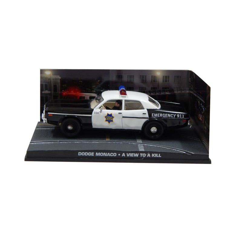 Miniatura Dodge Monaco Polícia 1/43 –  007 James Bond  Na mira dos assassinos 1/43 Ixo