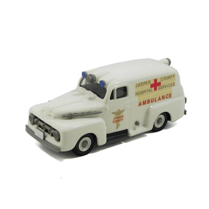Miniatura Ford F1 Ambulância 1952 1/43 Brooklin Models