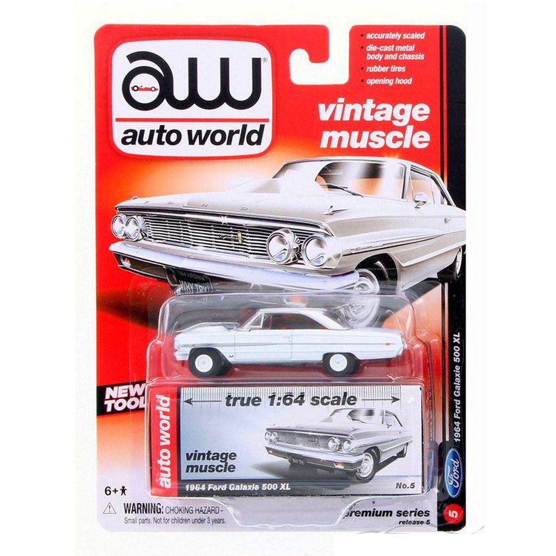 Miniatura Ford Galaxie 500XL 1964 1/64 Auto World