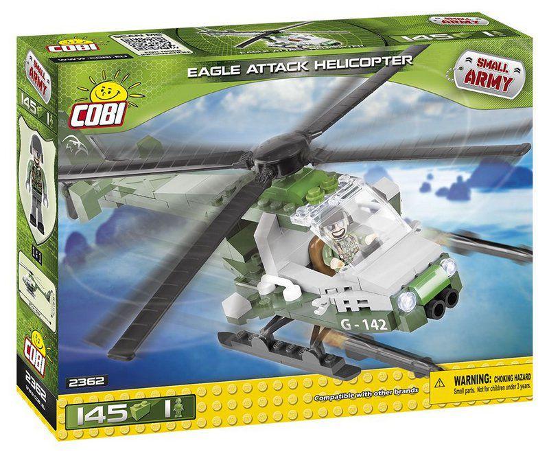 Helicóptero Eagle Attack Blocos de Montar 145 Peças Cobi