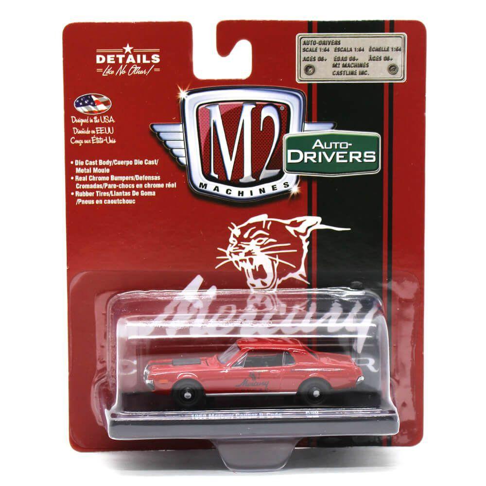 Miniatura Mercury Cougar R-Code 1968 1/64 M2 Machines Auto Drivers 11228 Release 50