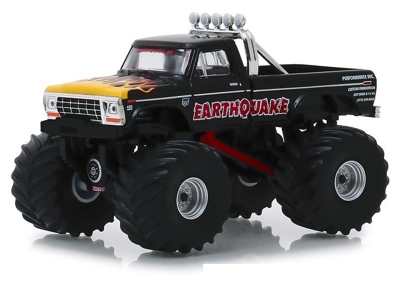 Miniatura Ford F-250 1975 Earthquake Kings of Crunch 1/64 Greenlight