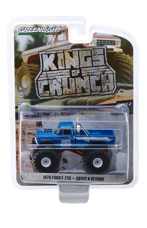 Miniatura Ford F-250 1978 Above N Beyond Kings of Crunch 1/64 Greenlight