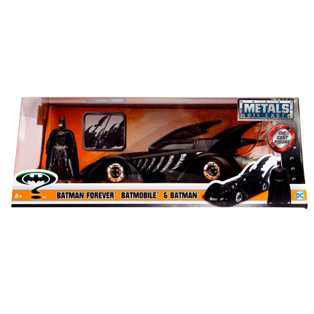 Miniatura Batmovel 1955 Forever com Boneco 1/24 Jada Toys