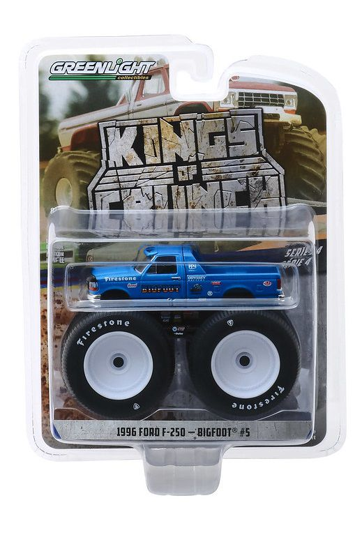 Miniatura Ford F-250 1996 Bigfoot Kings of Crunch 1/64 Greenlight