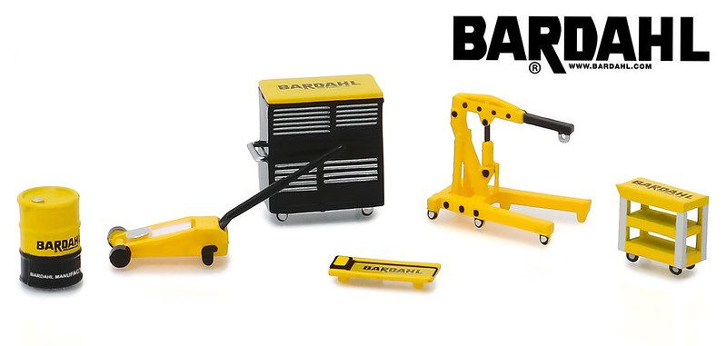 Miniatura Acessórios Bardahl Shop Tool Accessories 1/64 Greenlight