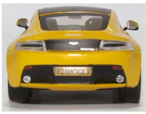 Miniatura Aston Martin Vantage S Sunburst Yellow 1/43 Oxford