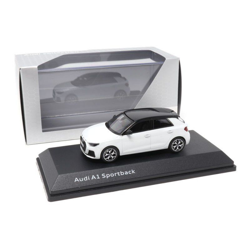 Miniatura Audi A1 Sportback 2018 Branco 1/43 IScale Audi Collection