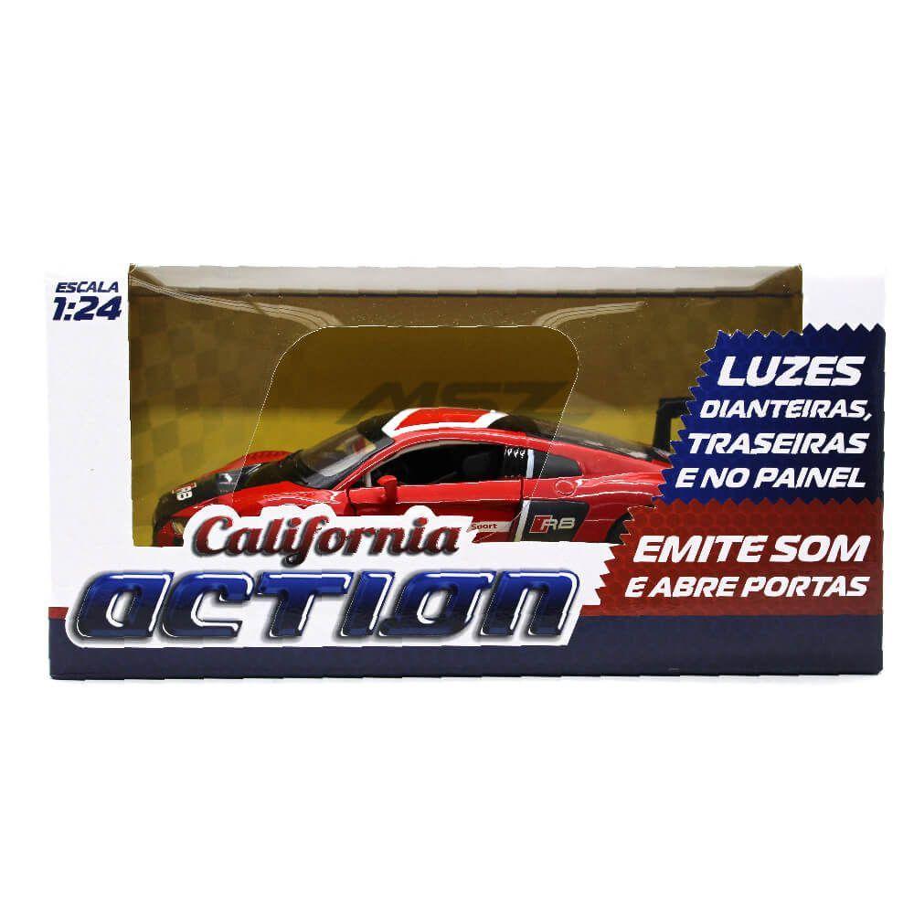 Miniatura Audi R8 LMS Com Luz e Som 1/24 California Action