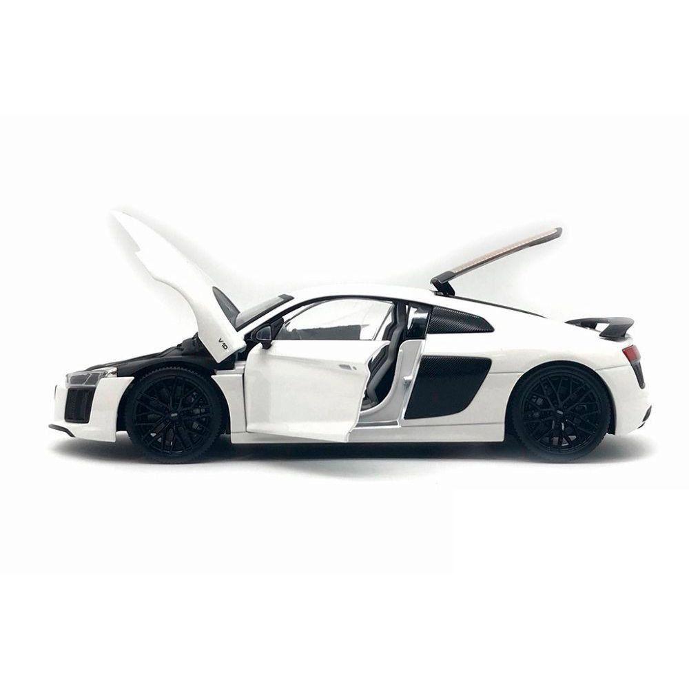 Miniatura Audi R8 V10 Plus Branco 2015 1/18 Maisto Exclusive