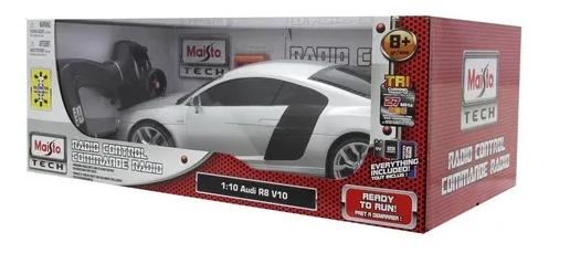 Miniatura Audi R8 V10 Prata Radio Controle 1/10 Maisto