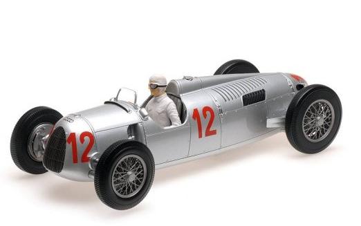 Miniatura Auto Union Type C #12 H. Stuck GP Budapest 1936 1/18 Minichamps