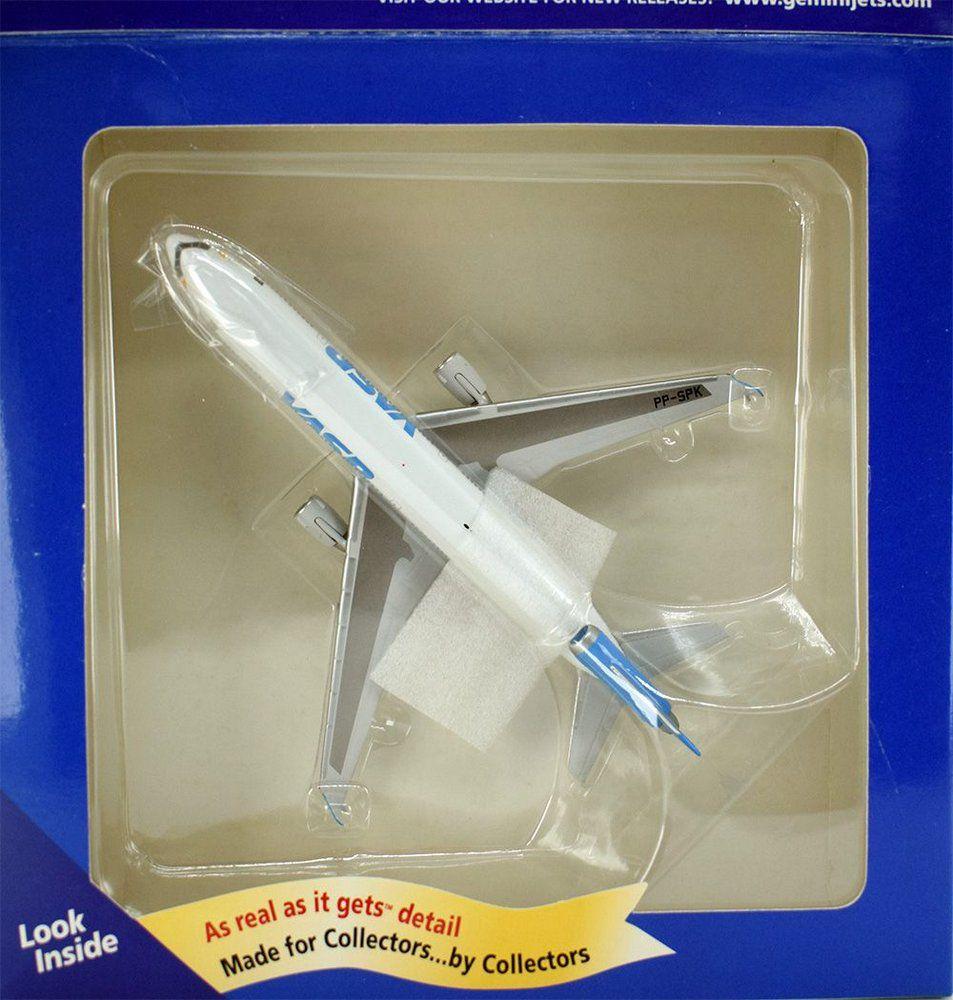 Miniatura Avião Mcdonnell Douglas MD-11 Vasp 1/400 Gemini Jets