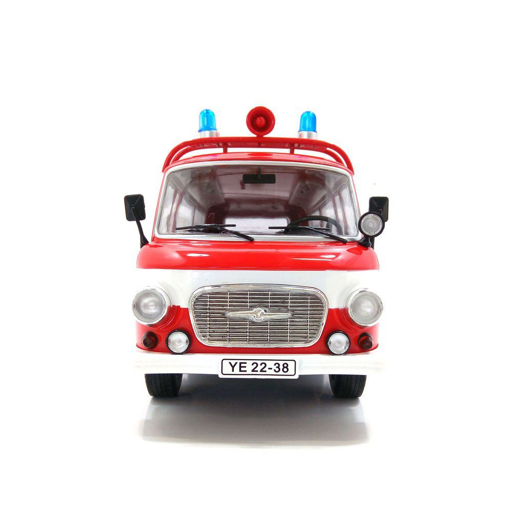 Miniatura Barkas B 1000 Bus Bombeiros 1965 1/18 Model Car